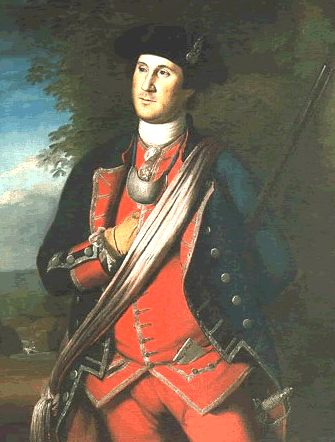 Earliest portrait of Washington, painted in 1772 by Charles Willson Peale, shows Washington in uniform as colonel of the Virginia Regiment