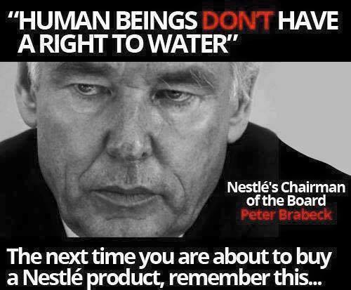 Peter Brabeck: human beings have no right to water