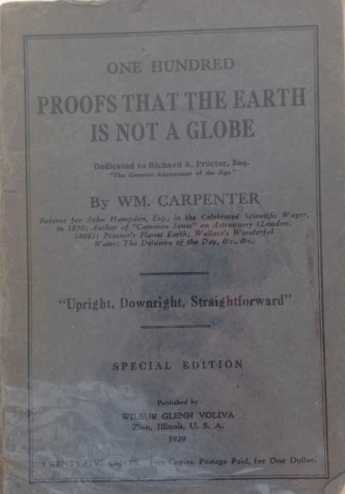 flat earth archival proofs of william carpenter pdf